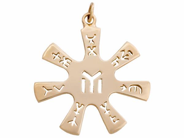 Медальон - Розета от Плиска – злато 14 карата – около 9 грама – диаметър: 38 мм (като оригинала)